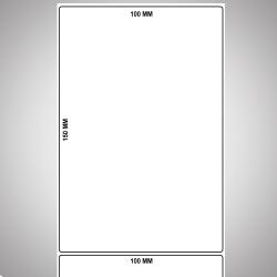 "100x150mm 2ups 1"" core 250nos Per Roll GPRO Barcode Label"